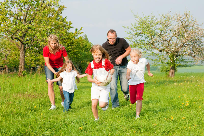 играть семьи центр событий стоковая фотография