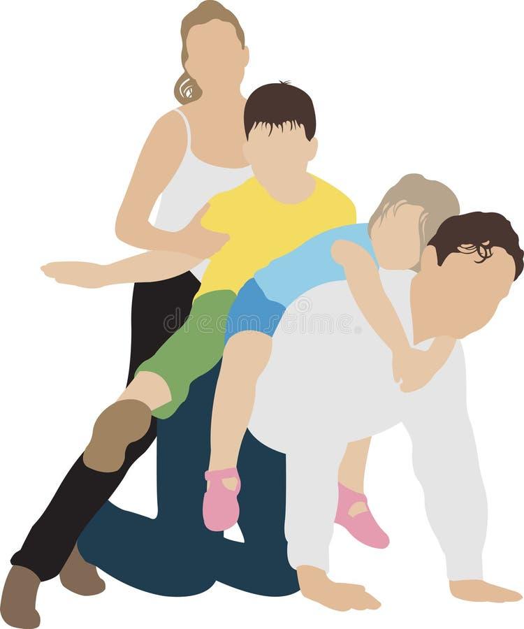 играть семьи иллюстрация вектора