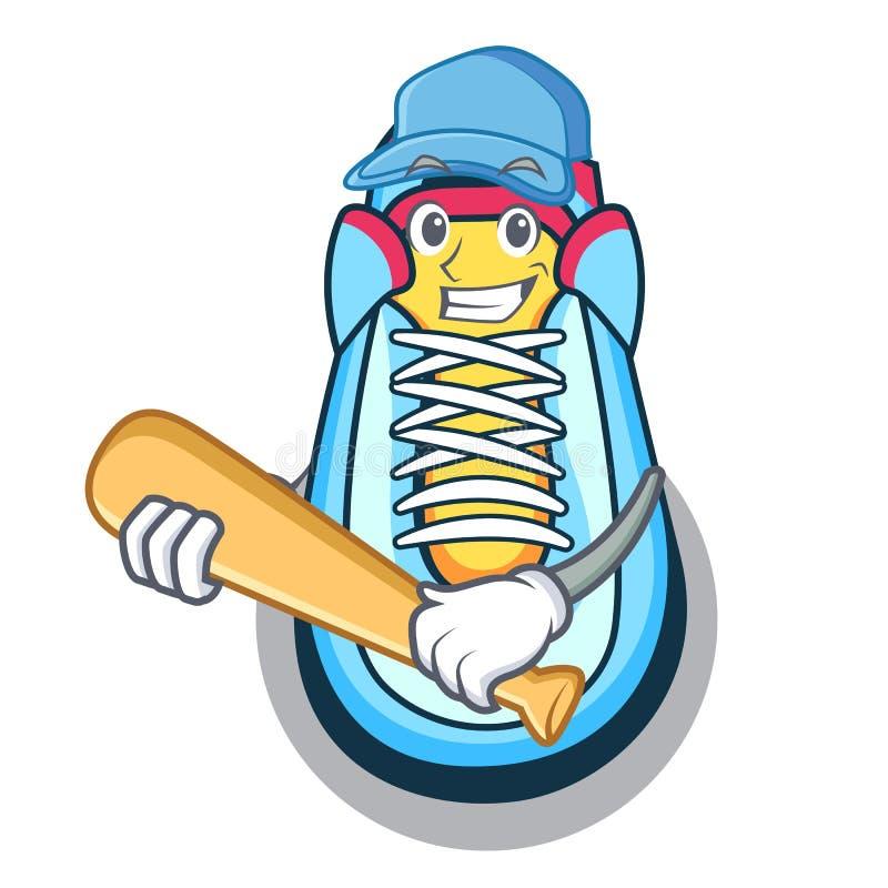 Играть стиль характера тапки бейсбола классический бесплатная иллюстрация