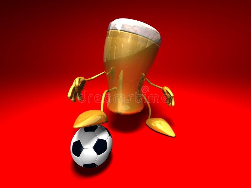 играть футбола пива бесплатная иллюстрация