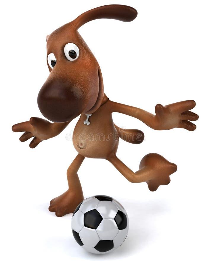играть футбола собаки иллюстрация штока