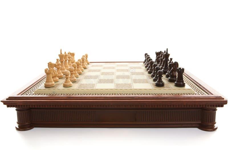 играть частей шахмат доски стоковые изображения rf