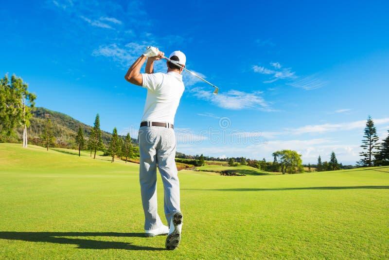 играть человека гольфа стоковое изображение rf