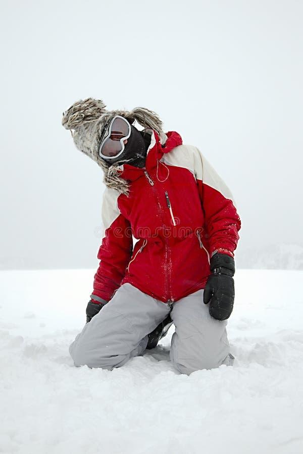 Играть лыжника стоковые изображения
