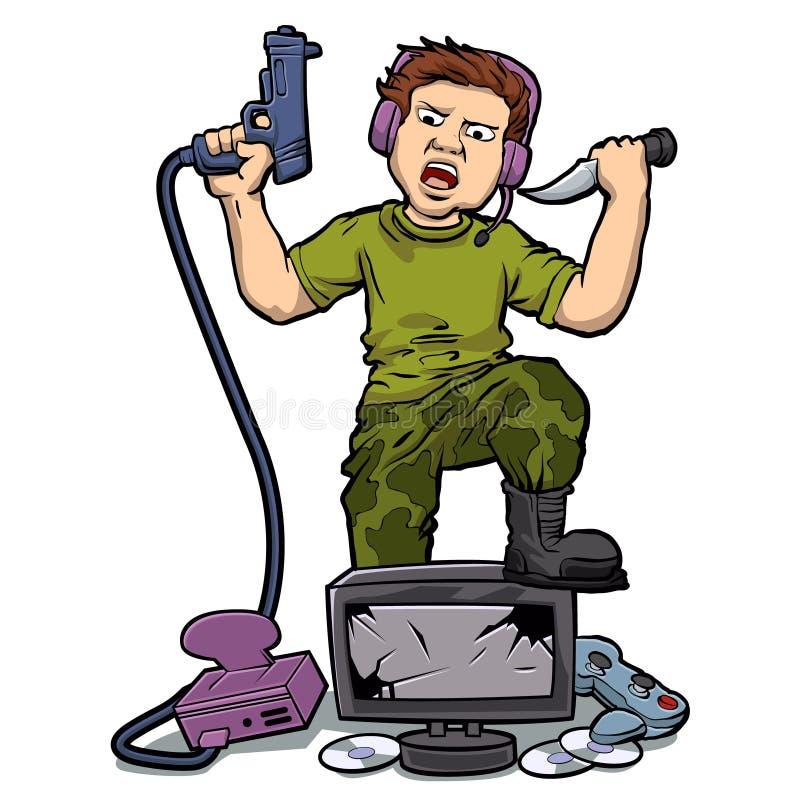Играть яростные видеоигры бесплатная иллюстрация