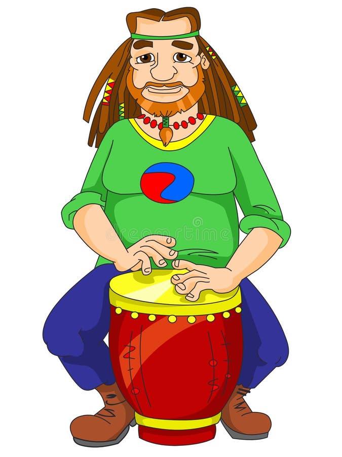 играть hippie бонго бесплатная иллюстрация