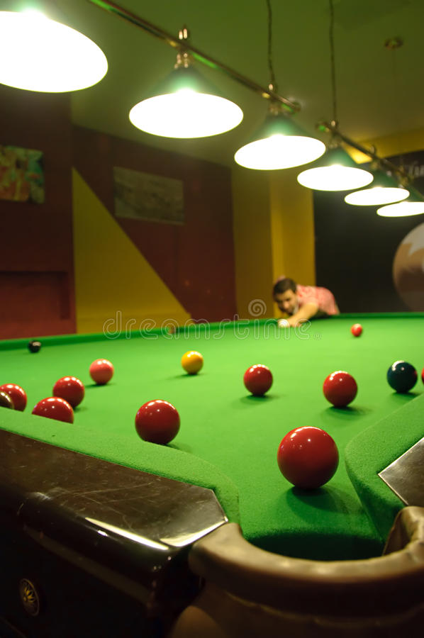 играть Snooker Стоковое фото RF