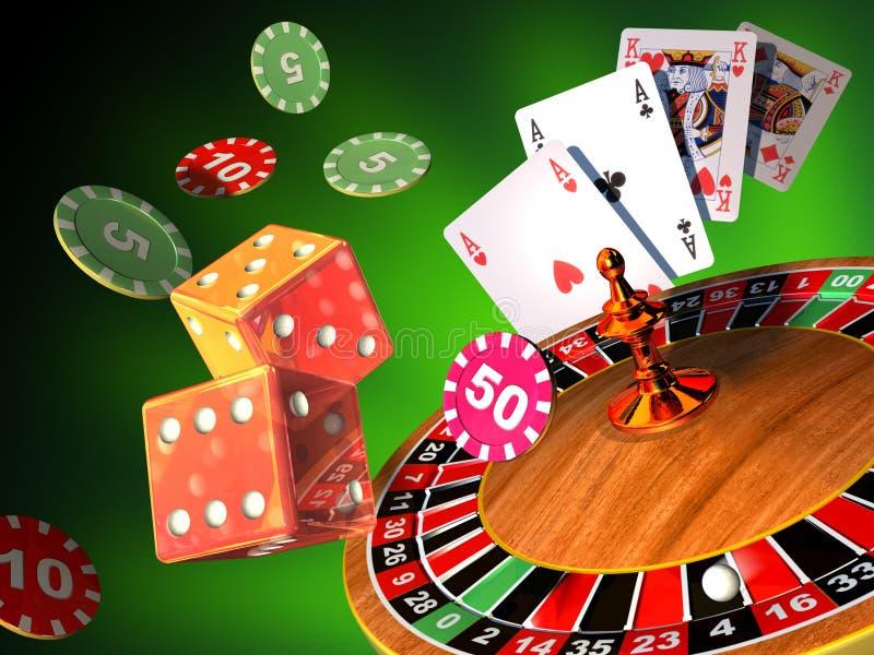 играя в азартные игры игры иллюстрация штока