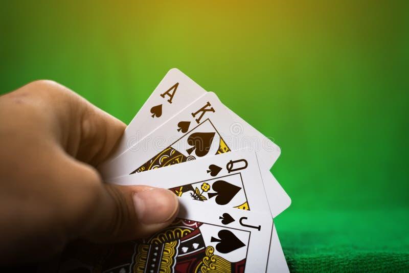 Играя в азартные игры карточная игра стоковое изображение rf