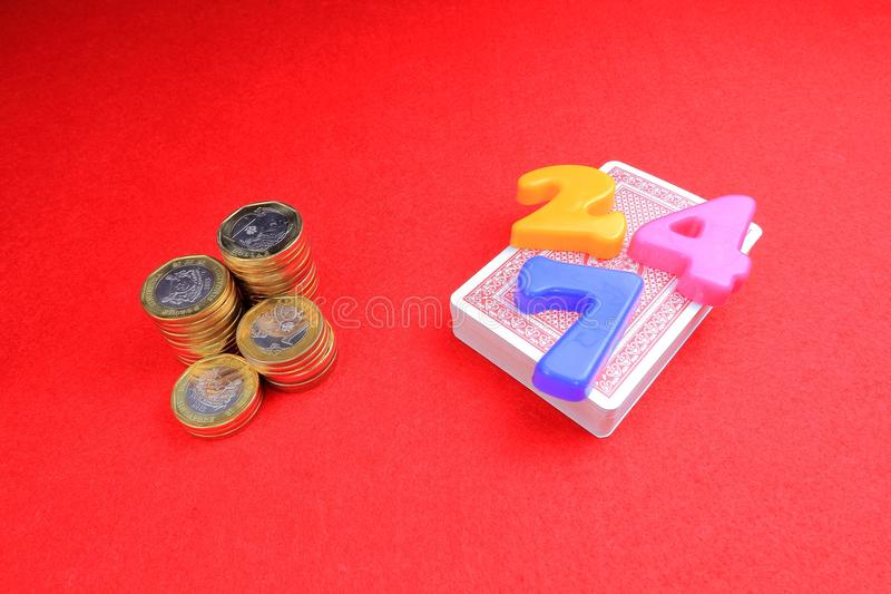 Играя в азартные игры наркомания стоковые фотографии rf