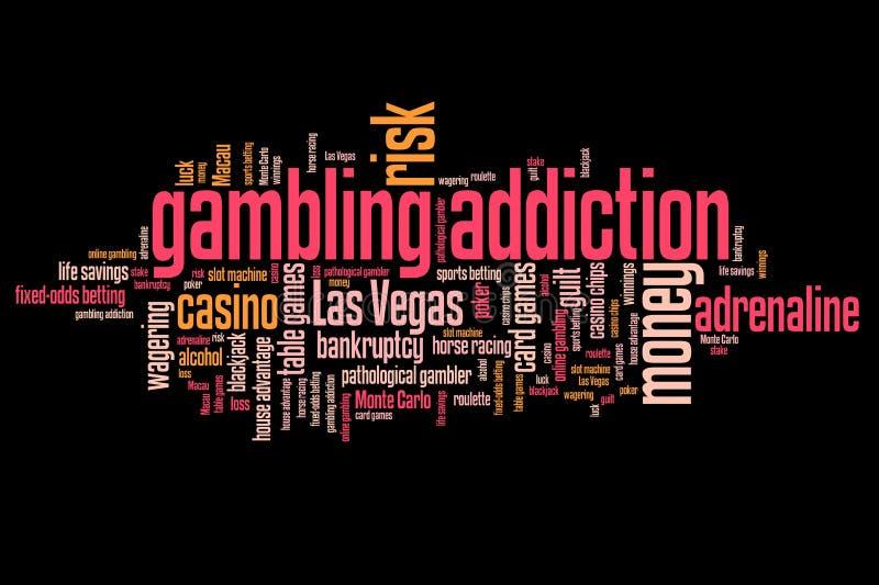 Играя в азартные игры наркомания иллюстрация вектора