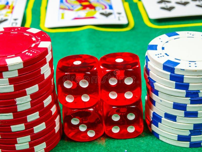 Играя в азартные игры обломоки стоковая фотография rf