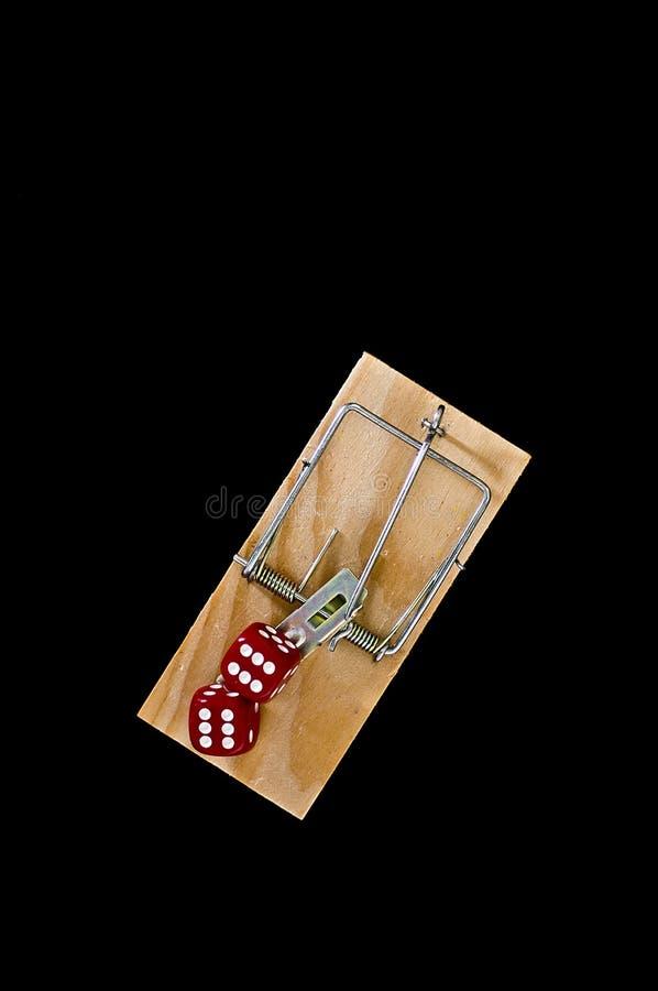 играя в азартные игры ловушка стоковая фотография rf