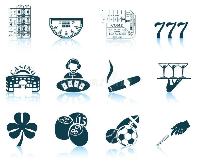 играя в азартные игры установленные иконы иллюстрация вектора