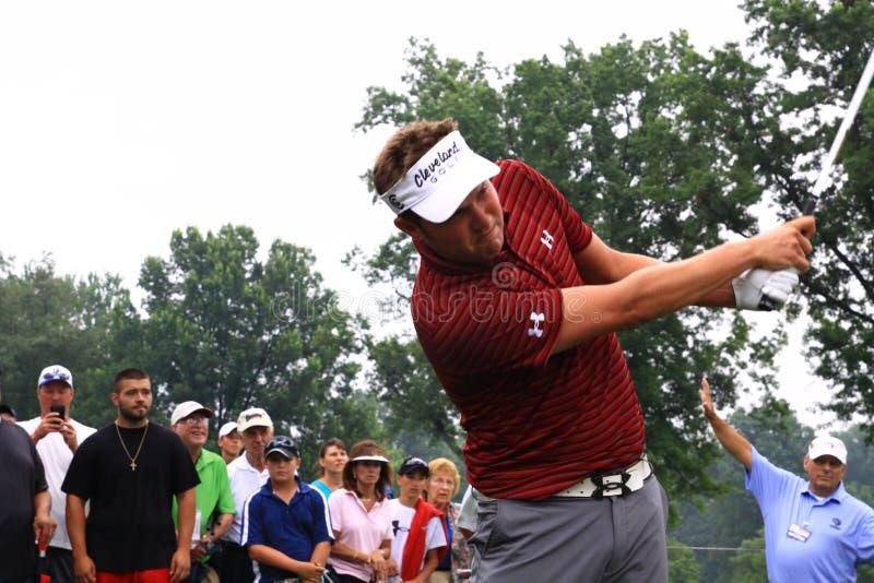 Играя в гольф pro Джеф Overton стоковые изображения rf