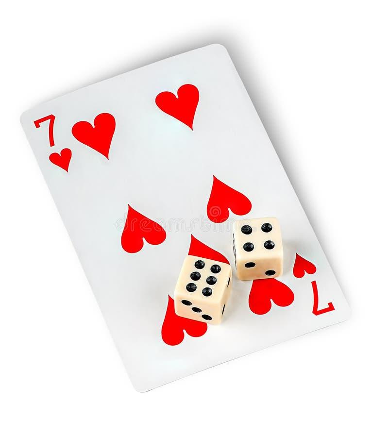Играя карточка и dices стоковое фото rf