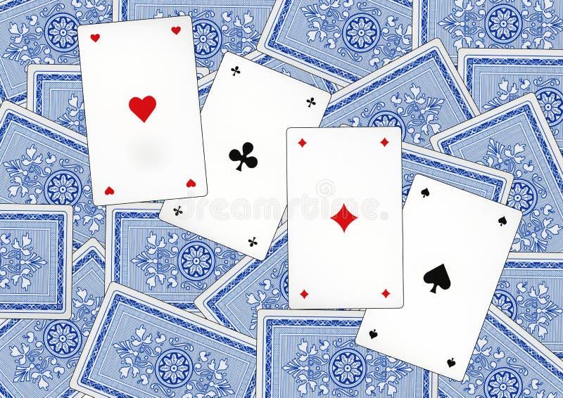 Играя карточки которые вызваны Piqued стоковое фото rf