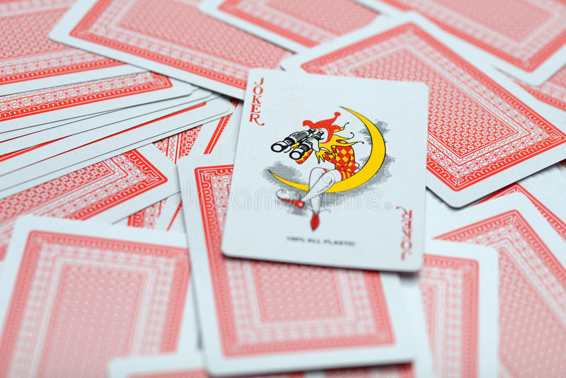 Играя карточки одно стоковая фотография