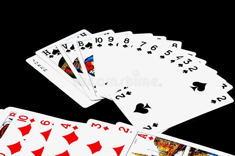 Играя карточки стоковые изображения rf