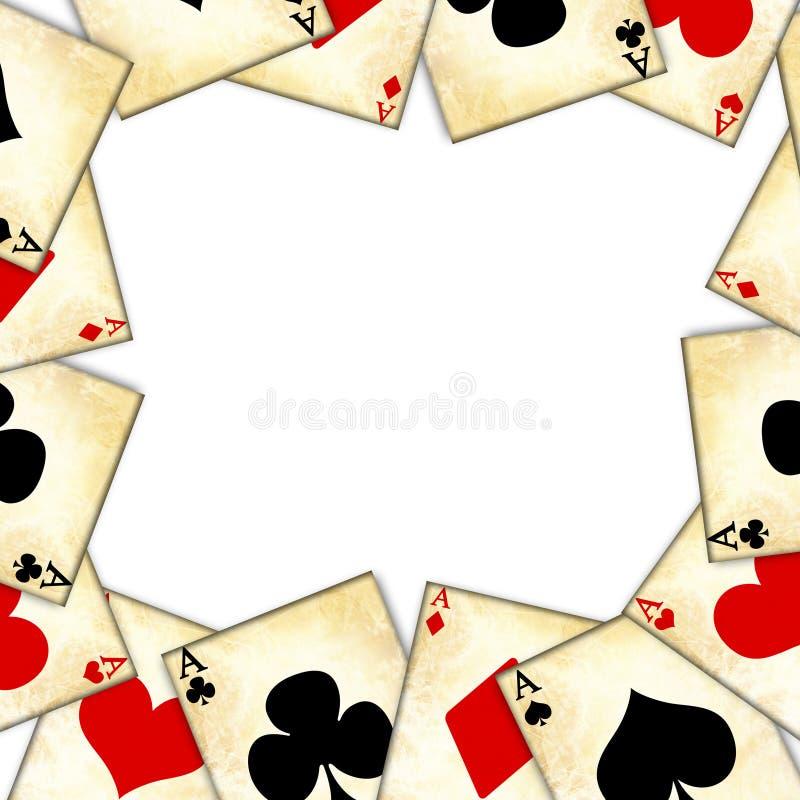 Играя карточки иллюстрация вектора