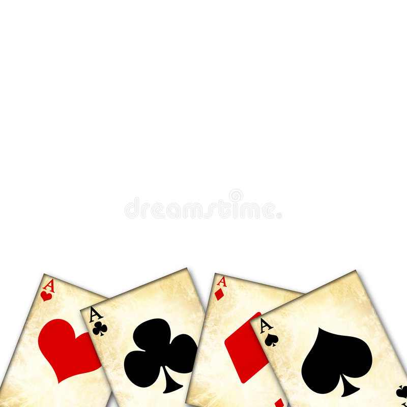 Играя карточки бесплатная иллюстрация