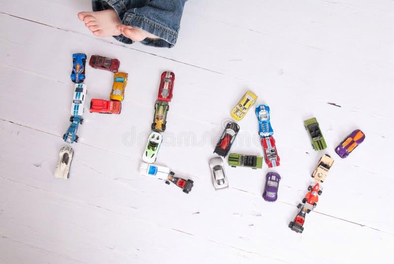 игра автомобилей стоковое фото