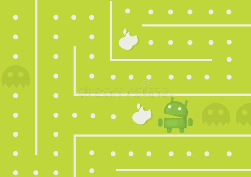 Игра андроида стоковые изображения rf