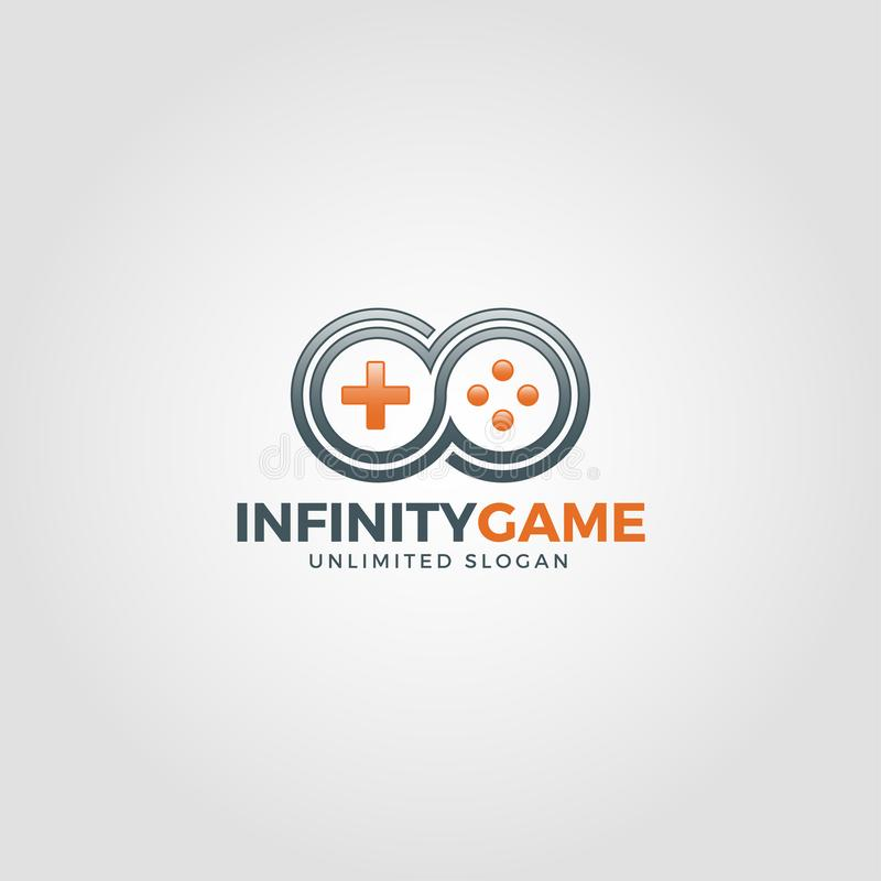 Игра безграничности - неограниченный логотип игры иллюстрация вектора