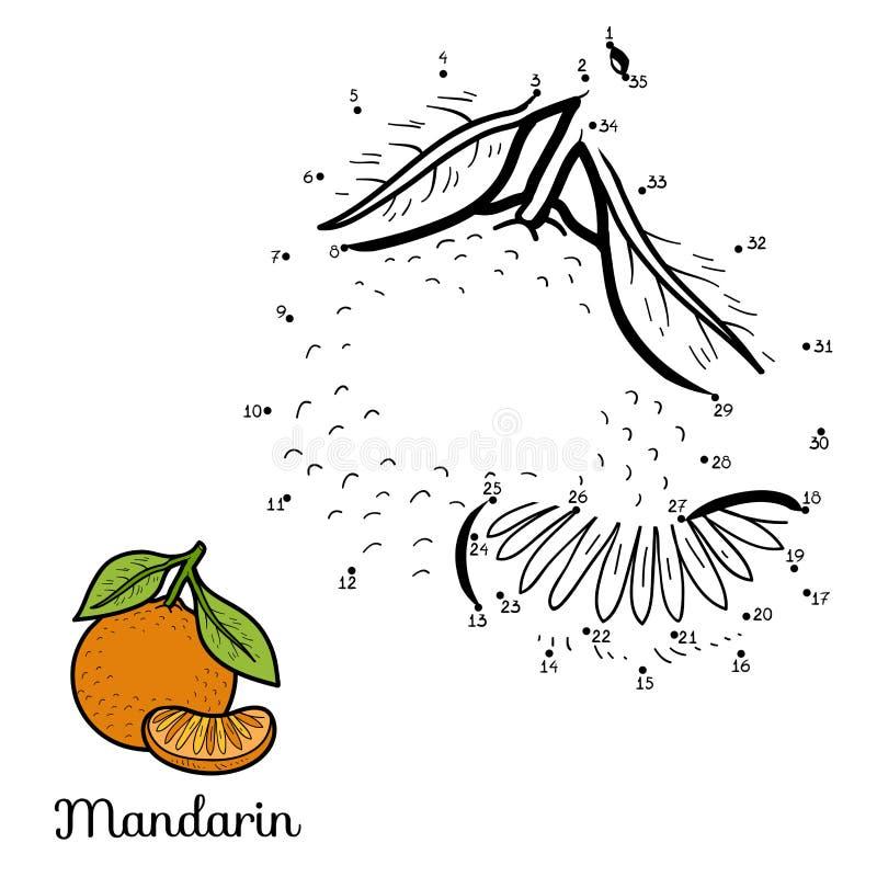Игра вектора номеров: фрукты и овощи (мандарин) бесплатная иллюстрация