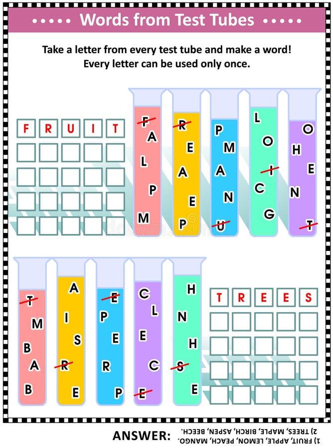 Игра в слова для детей или взрослых бесплатная иллюстрация