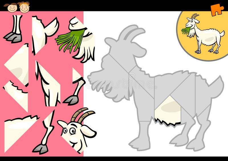 Игра головоломки козы фермы шаржа иллюстрация штока