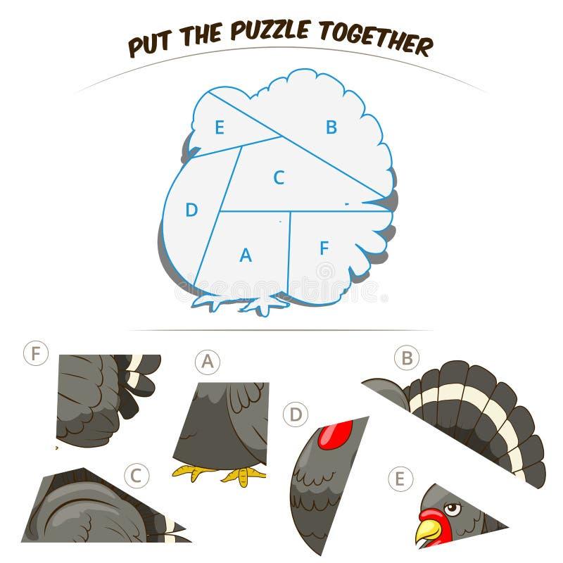 Игра головоломки для индюка детей бесплатная иллюстрация