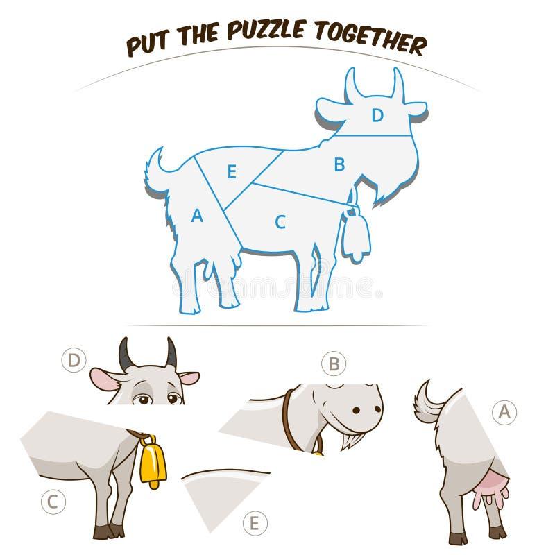 Игра головоломки для козы иллюстрация вектора