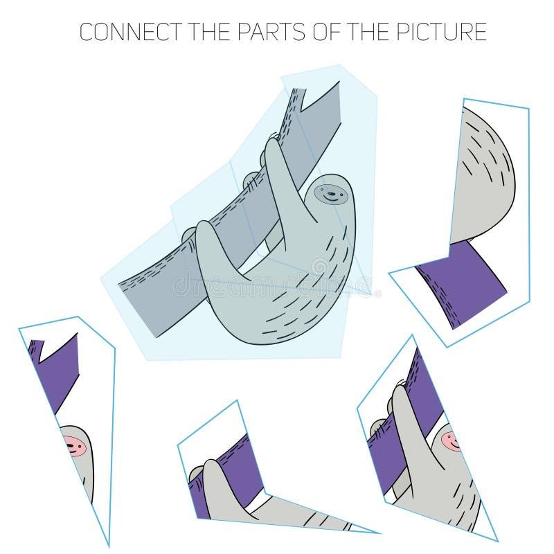 Игра головоломки для chldren лень бесплатная иллюстрация