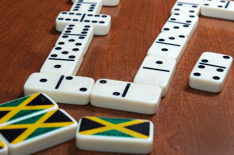 игра домино ямайская стоковая фотография rf