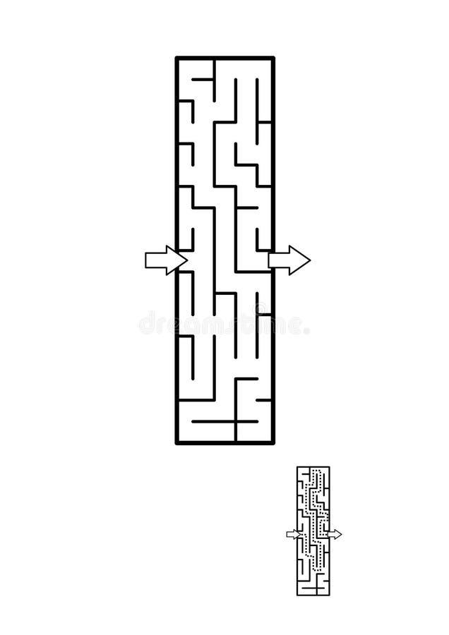 Игра лабиринта письма i для детей иллюстрация штока