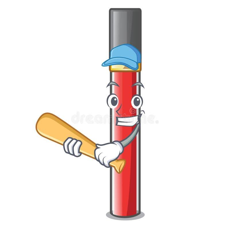 Игра лоска губы бейсбола в форме мультфильма иллюстрация вектора