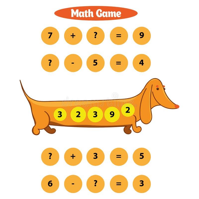 Игра математики воспитательная для иллюстрации вектора детей стоковое фото