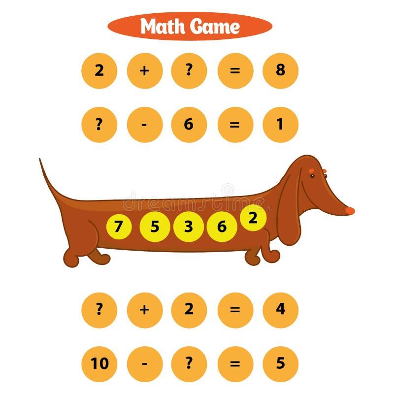 Игра математики воспитательная для иллюстрации вектора детей стоковые изображения rf