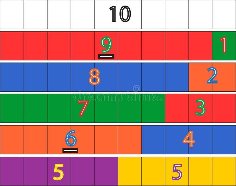 Игра математики детского сада иллюстрация штока