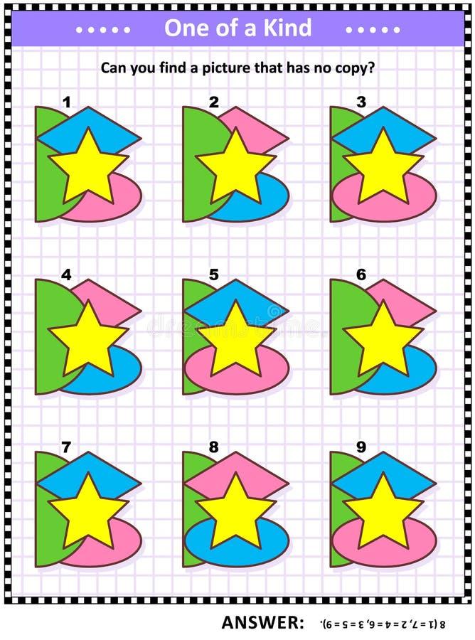 Игра математики с основными формами - овалом, звездой, полуокружностью, косоугольником, или диамантом иллюстрация вектора