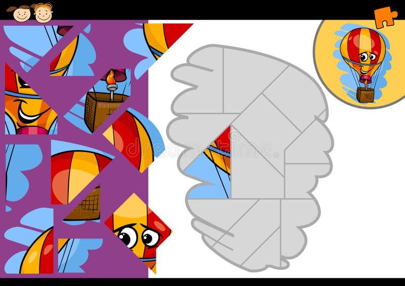 Игра мозаики воздушного шара шаржа иллюстрация штока
