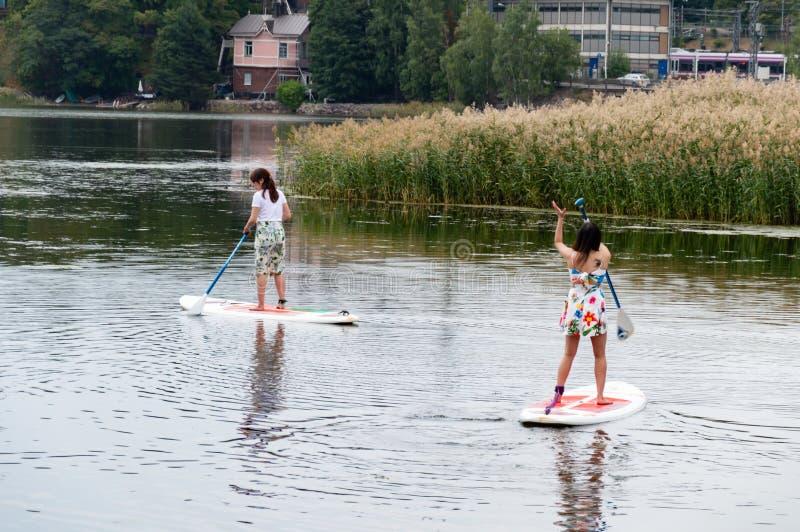 Игра на гребле в Хельсинки стоковая фотография