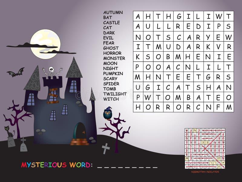 Игра на хеллоуин иллюстрация вектора