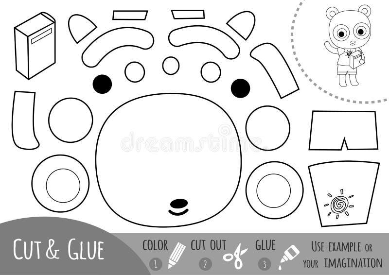 Игра образования бумажная для детей, панды и книги бесплатная иллюстрация