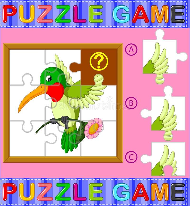 Игра образования мозаики для детей дошкольного возраста с птицей иллюстрация штока