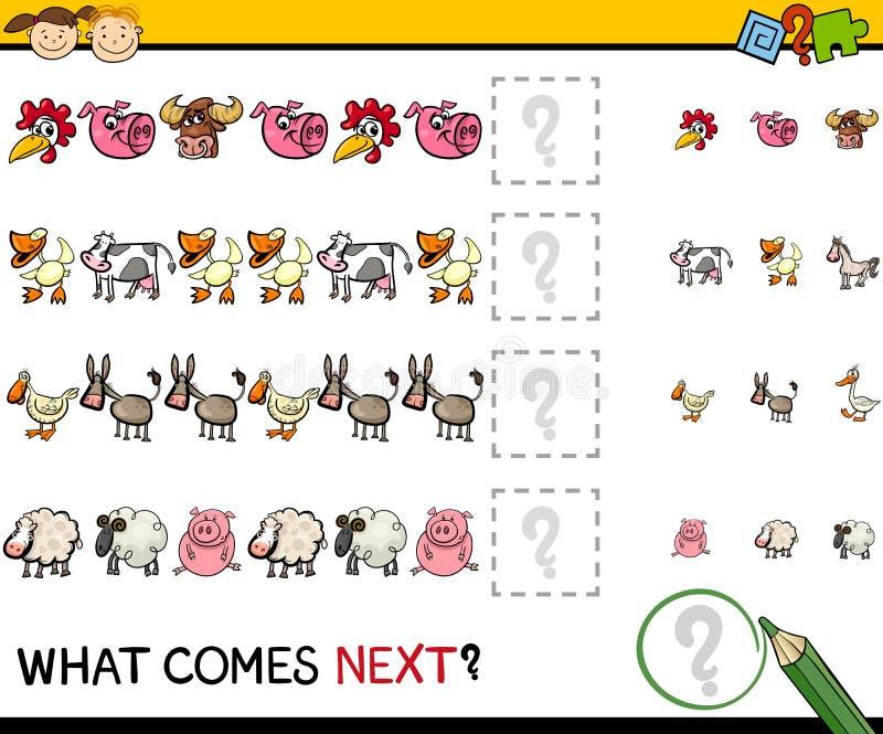 Игра образования с животноводческими фермами иллюстрация штока