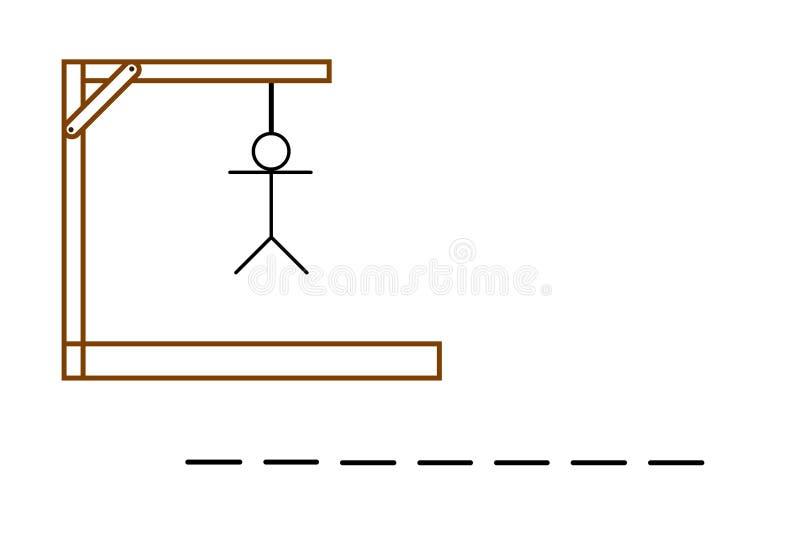 Игра палача на белой предпосылке стоковое изображение rf