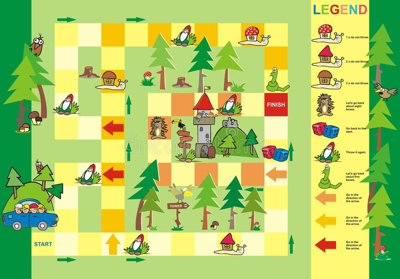 Игра, путь к башне бесплатная иллюстрация