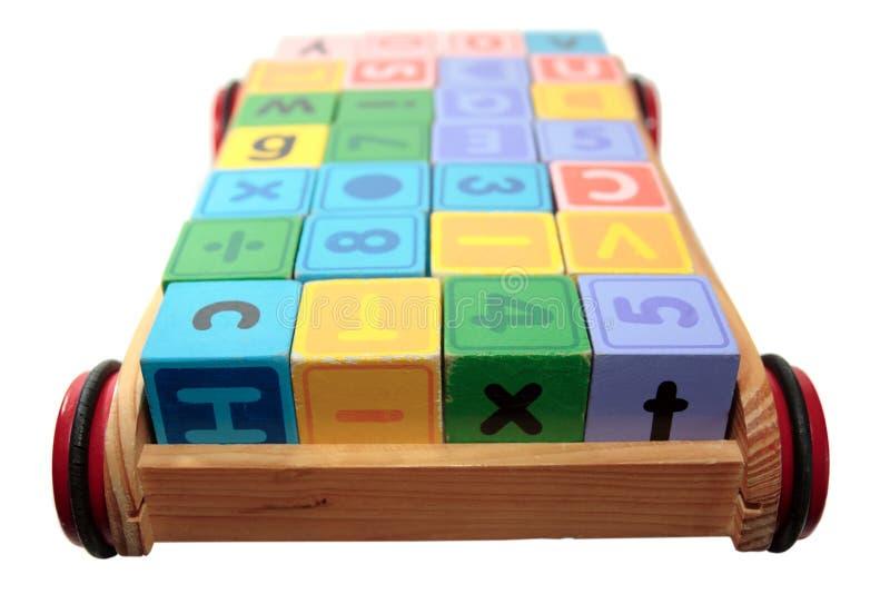 игра путя письма зажима тележки блоков стоковые изображения rf